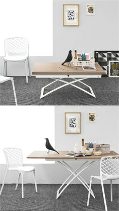 Versatile modern wooden coffee table. Discover more: coffeeandsidetables.com | #livingroomcoffeetable #woodencoffeetable #versatilecoffeetable