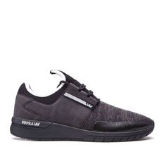 Dynamic, comfortable, cool >> Flow Run Black from Supra Footwear, now available in store and online Supra Footwear, Supra Shoes, Flow, Running, Store, Sneakers, Black, Fashion, Tennis
