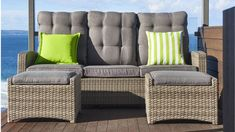 Tahiti 3 Piece Outdoor Recliner Lounge Setting