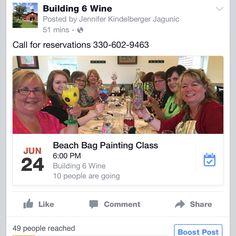 Beach bag painting :) Homeschool, Wine, Building, Bag, Painting, Buildings, Painting Art, Paintings, Homeschooling