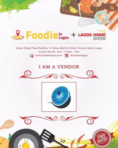 Meet the vendors:  @ambrosiabaker  SUNDAY MAY 8th 2016  Cookies Brownies Cupcakes and more  #FoodieinLagosFair #TheLagosHomeShow #Cookies #Brownies #Cakes #Food