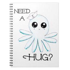 Vereis een Octopus van de Zeeman van Kawaii van de Ringband Notitieboeken