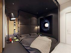 Cozy dark bedroom design   by PLASTERLINA #cozy #interior #dark #color #homedecor #bedroom #design #interiordesign