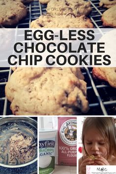 The egg-less chocolate chip cookie recipe, that is better than nestle toll house! I'd only ever tried Nestle's recipe! Glad I branched out. These cookies are fluffy and gooey and perfect!