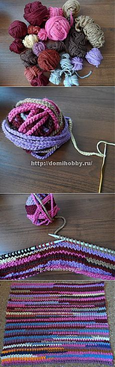 Sooo cool recycle leftover yarn idea...