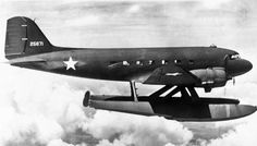 Impressive, and the potential to supply the plentiful remote bases during World War II was enticing, but this C-47 could only operate from calm waters. Douglas XC-47C — San Diego Air & Space Museum Archive Charles Daniels Collection photo