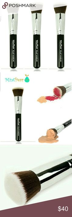 Reserve yours today! Mint pear flat kabuki brush.  These will be available for purchase this week. Hit the like button and I'll send an update once it's available. I'm so excited about these‼️‼️ I'm a makeup junkie 💖😀 Mint Pear Beauty Makeup