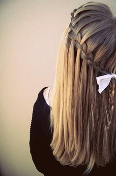 How to Style: The Waterfall Braid | College Gloss