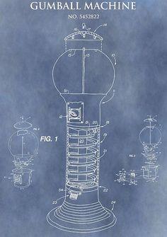 Blue Gumball Machine Patent