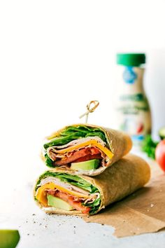 Turkey Avocado Ranch Club Wraps are easy to assemble, very quick to make, and taste incredible! Plus they are filled with good-for-you ingredients!