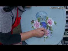 Pintar rosas y lilas , pintura efecto tiza . - YouTube