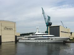 Having arrived in #Germany in December last year, the #Lürssen #superyacht Global that once measured 68 metres returned to her home shipyard where she would undergo an extensive refit. The past six months spent in Rendsburg saw Global have all her aft decks extended, with the vessel now measuring well over 70 metres. Previously characteristic design cues from her Espen Oeino exterior have been replaced, such as a new name sign plate on the upper deck.