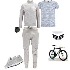 Oh, It's time for my workout by nattysupplyco on Polyvore featuring MIO, New Balance and Armani Jeans