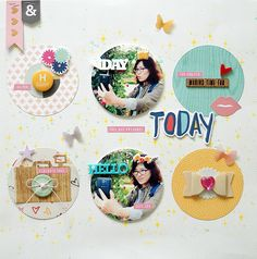 Empowering you to create, learn, and connect. Gossamer Blue, Scrapbook Pages, Scrapbooking, Scrapbook Layouts, Studio Calico, Frame, Cards, Inspiration, Journal Ideas