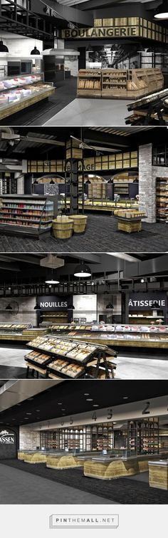 Grocery store, Luxembourg | Kinzel Architecture / SHOPPING CENTER MASSEN - created via http://pinthemall.net