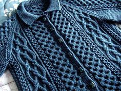 Ravelry: Shalor Cardigan pattern by Penny Straker ~ I love this!!