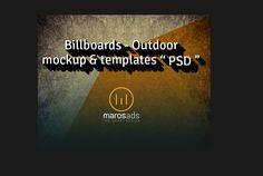 20  Outdoor Advertising Billboard Mockup PSD