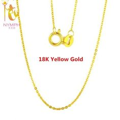 """18K White Yellow Gold Chain Necklace 18"""""""