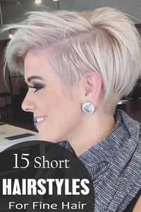 All these hairstyles are styled with perfection and amazing finish. You can wear these for any occasion going classic, romantic or vintage to get an amazing look. Click to find out the rest! #hairstraightenerbeauty #Shorthairstylesforfinehair #Shorthai
