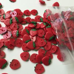 Spring is coming! It's almost time to start making those adorable springtime dresses. Our strawberry KAM snap buttons are the perfect closure option.