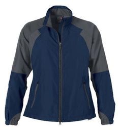 Ladies' Active Outdoor Jacket, Color: Night w/Tech Grey, Size: 2X-Large Ash City. $20.99