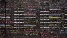 Would love to see this: Before-I-Die-wall-NOLA-by-Candy-Chang-responses All The Bright Places, Urban Intervention, Wall Candy, Chalk Wall, Interactive Art, Losing Someone, Hopes And Dreams, Before I Die, Public Art
