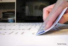 great tips for cutting contact paper with a craft cutter. And using contact paper as transfer paper