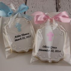 Personalized Plaque Cookies with Cross, Baptism, Communion Favors - 12 Decorated Sugar Cookies