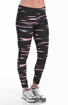 Champion Women's Absolute Workout Tight, Black Blur The Line, Small