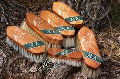Custom Hand Painted Horse brushes set of 6 by MoxieDesignsATX