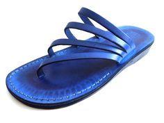 New Blue Classic Flats Leather Sandals for Women, Toe Flip Flops Slides Sandals, Spartan Grecian Ro Slide Sandals, Shoes Sandals, Flats, Flat Sandals, Sandal Heels, Women Sandals, Shoes Women, Leather Flip Flops, Leather Sandals Flat