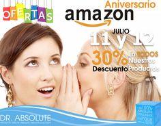 #AniversarioAmazonMx Adquiere TODOS nuestros productos de Dr. Absolute México con 30% de DESCUENTO, valido solo 11 y 12 de JULIO. #FelizLunes (Promocion disponible después de las 6 p.m.) Da Click y Compra AQUÍ:  Colágeno http://amzn.to/29KcCXL  CLA http://amzn.to/29w54Vz
