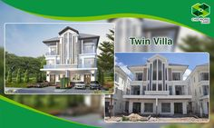 Chip Mong Land's Twin Villas are constructed. Property Development, Villas, Twin, Multi Story Building, Chips, Construction, Mansions, House Styles, Home Decor