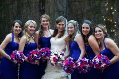 Elegant Purple & Red Wedding