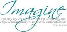John+Lennon+Imagine+Lyrics | Imagine John Lennon Decals - Trading Phrases