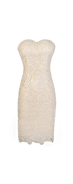 @jerushablade @lwinkelmanhodge @eghallman @jenelfatihah @thecreatorscanv Here's another option for my reception dress (no one freak out, we can figure out when it would be best for me to change). Crochet With Me Strapless Crochet Lace Dress in Beige