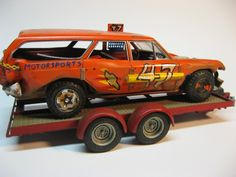 Hazel Home Art and Antiques Wausau, Wisconsin: Vintage car models turned into cool demolition derby cars.