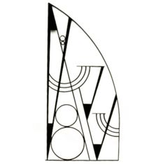 Art Deco Hammered Iron Screen | From a unique collection of antique and modern balustrades and fixtures at https://www.1stdibs.com/furniture/building-garden/balustrades-fixtures/