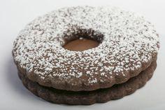 Recipe: Mocha Hazelnut Wreaths Holiday Cookie Recipes, Holiday Cookies, Christmas Recipes, Tea Cookies, Hazelnut Spread, Sandwich Cookies, Unsweetened Cocoa, Mocha