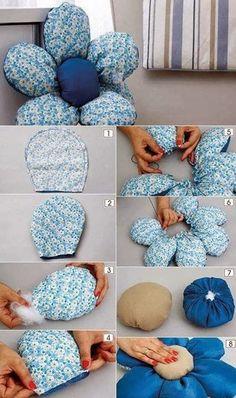 Si os apetece hacer un cojín, este DIY nos eplica como hacerlo de una manera muy fácil y no sólo eso, es reversible! ^_^     Manos a ...