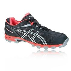 reputable site 8ab2a f7a20 Asics Mujer Gel-Hockey Typhoon Hockey Zapatillas Negro Rosa Naranja odRVj 1