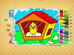 FREE Easter coloring pages - game for Kids. App on iPhone, iPad, Android. Free Easter Coloring Pages, Easter Colouring, Coloring Books, Kids Fun, Cool Kids, Coloring Games For Kids, Easter Chick, Color Games, Best Apps