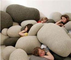 Pebble pillows!