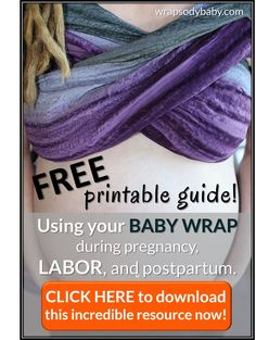 Extend the life of your #wrap and increase your comfort during #pregnancy, labor, or even postpartum.