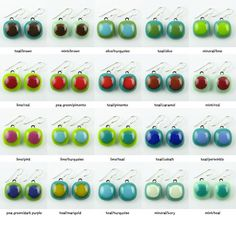 Fused Glass Earrings - Blues/Greens - Made-To-Order via Etsy