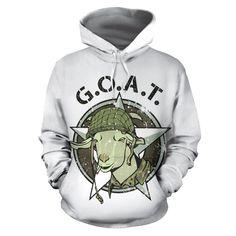 All over print hoodie for men & women - Goat 01 Men And Women, Hoodies, Sweatshirts, New Product, Goats, Street Wear, Menswear, Sheep, Sweaters