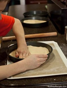 Making Pasta Pie for The Kids Cook Monday) on AndreasRecipes.com