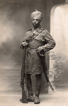 Portrait of an Indian WW1 Soldier