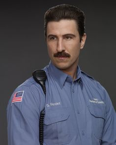 """Pin for Later: The Cast of Orange Is the New Black Looks Way Different in Other Roles Pablo Schreiber as George """"Pornstache"""" Mendez"""