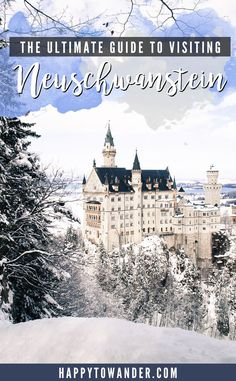 Walt Disney's Sleeping Beauty Castle in REAL life! Neuschwanstein Castle is one of the most beautiful castles in the world, and is one of the best gems to visit in Bavaria, Germany. Here's the ultimate guide on how to see this place for yourself, with tips, tricks and a suggested itinerary from Munich.